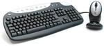 Клавиатура и мышь Logitech Cordless Rechargeable Desktop Black