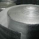 Непрошитый вспененный полиэтилен , дублированный металлизированной лавсановой  пленкой с одной стороны