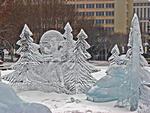 Ледовые скульптуры, ледовые новогодние городки