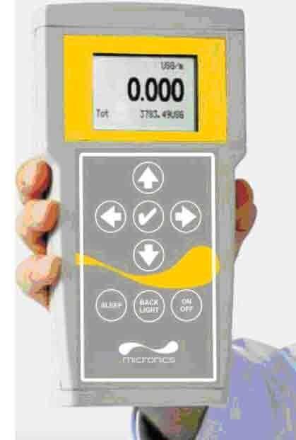 Ультразвуковой расходомер жидкости Portaflow D550 портативный