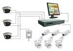 Система видеонаблюдения на базе 4-х канального видеорегистратора