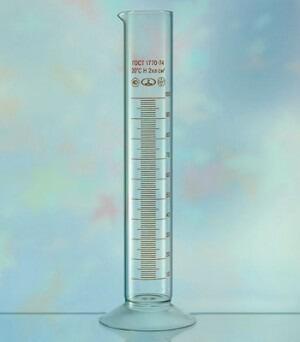 Цилиндр мерный на стеклянной подставке 250мл