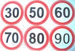 Наклейка ОГРАНИЧЕНИЕ СКОРОСТИ, 30, 50, 60, 70, 80, 90 км/ч