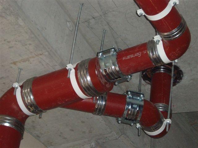 Безраструбная чугунная канализация, труба L-3м.