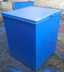 Металлический контейнер для мусора объемом 0.75 м3