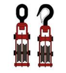 Блок монтажный (блок полиспастный) двурольный г/п 1,0 т с крюком/ушком