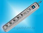 Сетевой фильтр Defender DFS 501 2.0 метра, 6 розеток, 2 USB порта, металлик