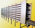 Конвейер транспортер девяти ярусный для охлаждения кондитерских изделий после выпечки.