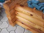 Сушка и термообработка неокоренного бревна для деревянного домостроения.