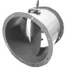 Заслонка АЗД-133, АЗД-136 круглая с ручным управлением