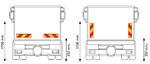 Задние опознавательные знаки для грузовых машин