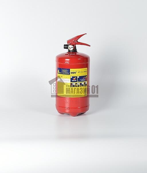 Огнетушитель порошковый ОП-3 (А,В,С,Е) без кронштейна (МИГ, г.Витебск)
