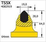 Траншейные и горные резцы TSX SERIES