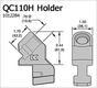 Резцедержатели для ресайклеров, стабилизаторов, профилировочных и дорожно-фрезерных машин