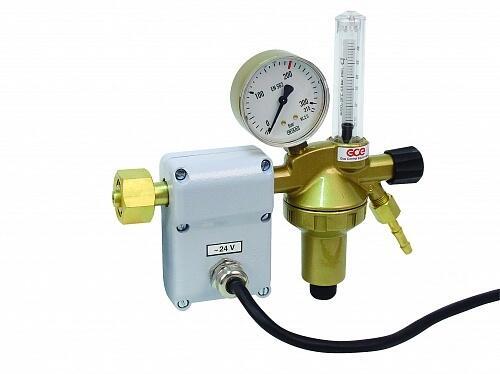 Регулятор для аргона и углекислого газа GCE DINFLOW Plus 24 V N1 с подогревателем - Аргон/CO2