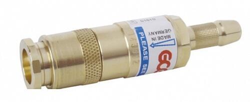 Быстросъемное соединение для горелки резака QC+FBA, Кислород, 6,3 мм (встроенный предохран. затвор)
