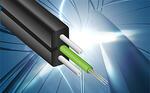 Волоконно-оптический кабель связи подвесной, плоский (ОКЦП)