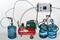 Установка розлива воды в 19-литровые бутыли и их укупорка модели ДУЭТ-П
