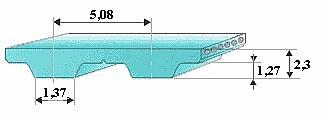 Зубчатый ремень 106XL-031