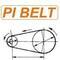 Приводной ремень 5J 406 для мотокультиваторов Калибр К35.28, Целина 380, Rezer-350