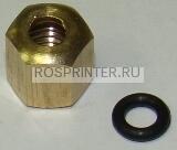 Гайка с уплотнительным кольцом для соединения демпфера и трубки чернильного тракта