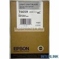 Epson C13T605900 Картридж T6059, light light black для Stylus Pro 4800 / 4880, (110 мл)