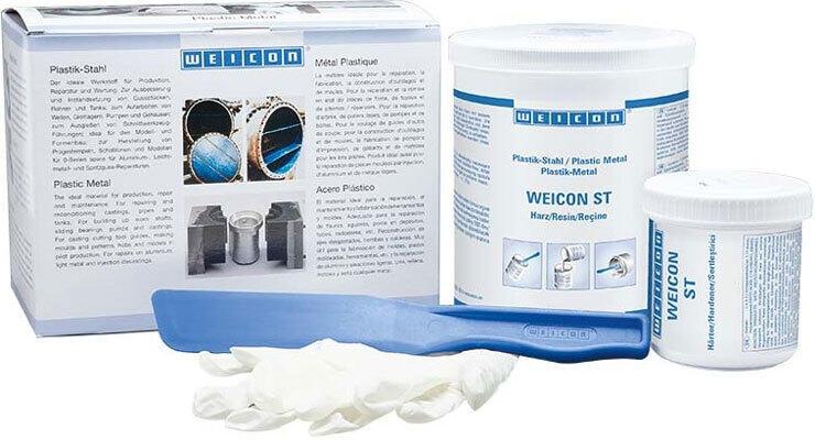 Металлополимер WEICON для ремонта деталей машин ST пастообразный композит 500 г.