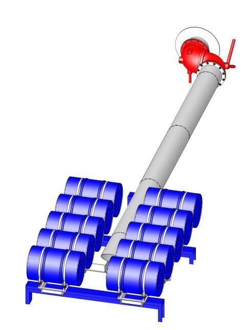 Труба подъемная с понтоном ТПП-350