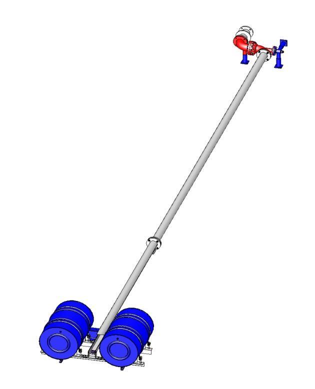 Труба подъемная с понтоном ТПП-100