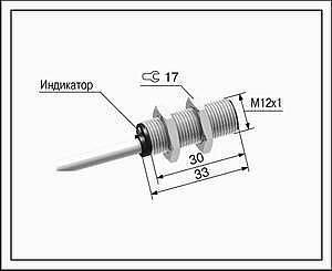 Датчик положения индуктивный ВБ2.12М.33.2.X.X.К