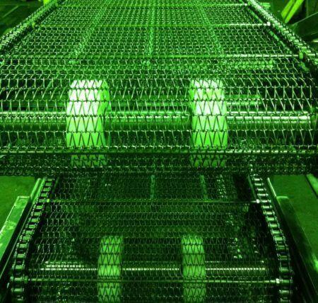 Конвейер сетчатый с приводными цепями