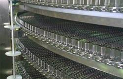 Спиральный конвейер с нержавеющей сеткой
