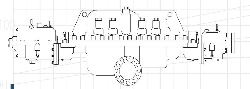Многоступенчатые насосы с горизонтальным разъемом Серии SCSK, SCSKA