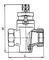 Кран пробковый проходной 11ч6бк сальниковый муфтовый с канавками для смазки