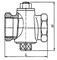 Кран пробковый 11б1бк проходной конусный натяжной муфтовый