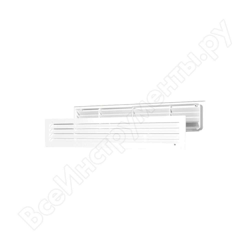 Решетка вентиляционная переточная (450х91 мм; белая) era 4409дп