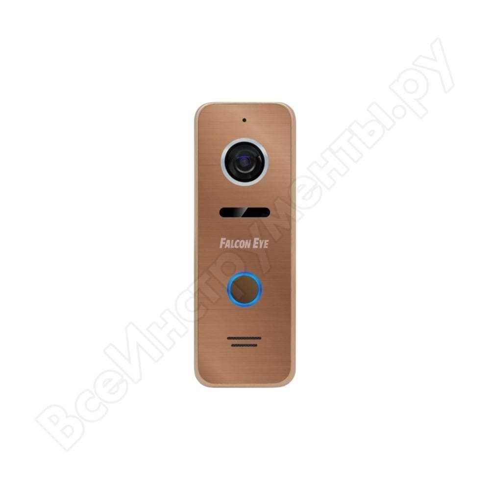 Антивандальная накладная видеопанель falcon eye с ик подсветкой fe-ipanel 3 bronze