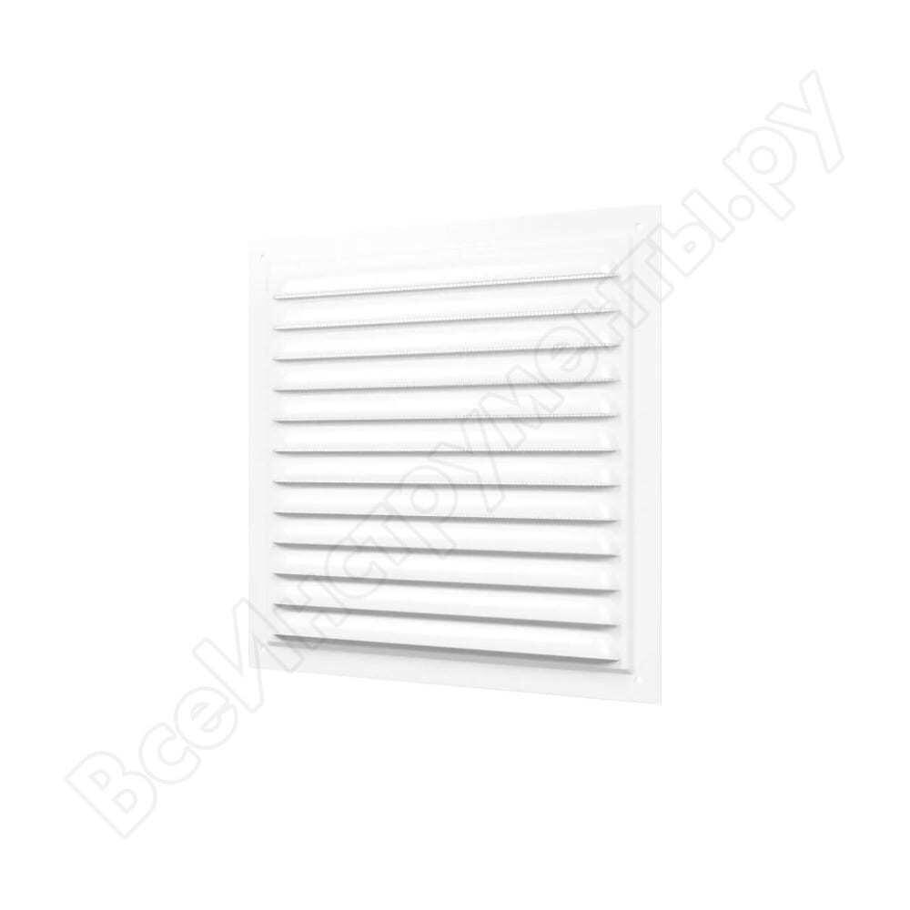 Решетка вентиляционная стальная с сеткой (200x200 мм; белая) era 2020мэ 233-004