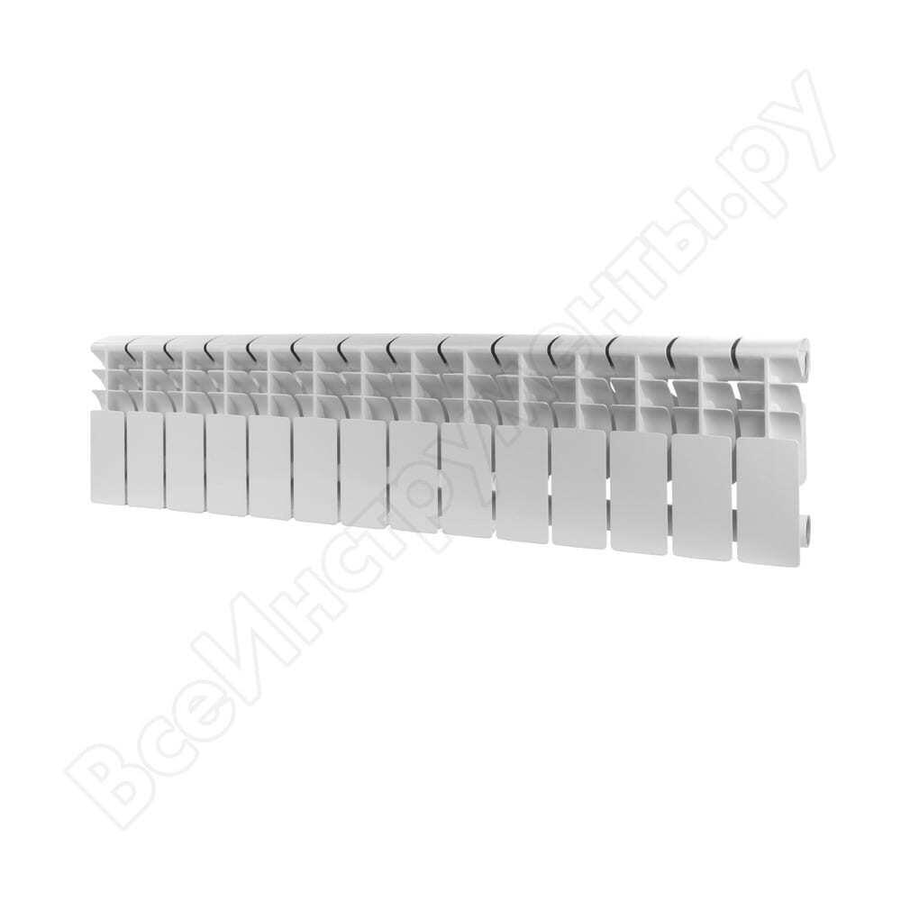 Алюминиевый радиатор rommer plus 200 14 секций ral9016 89993