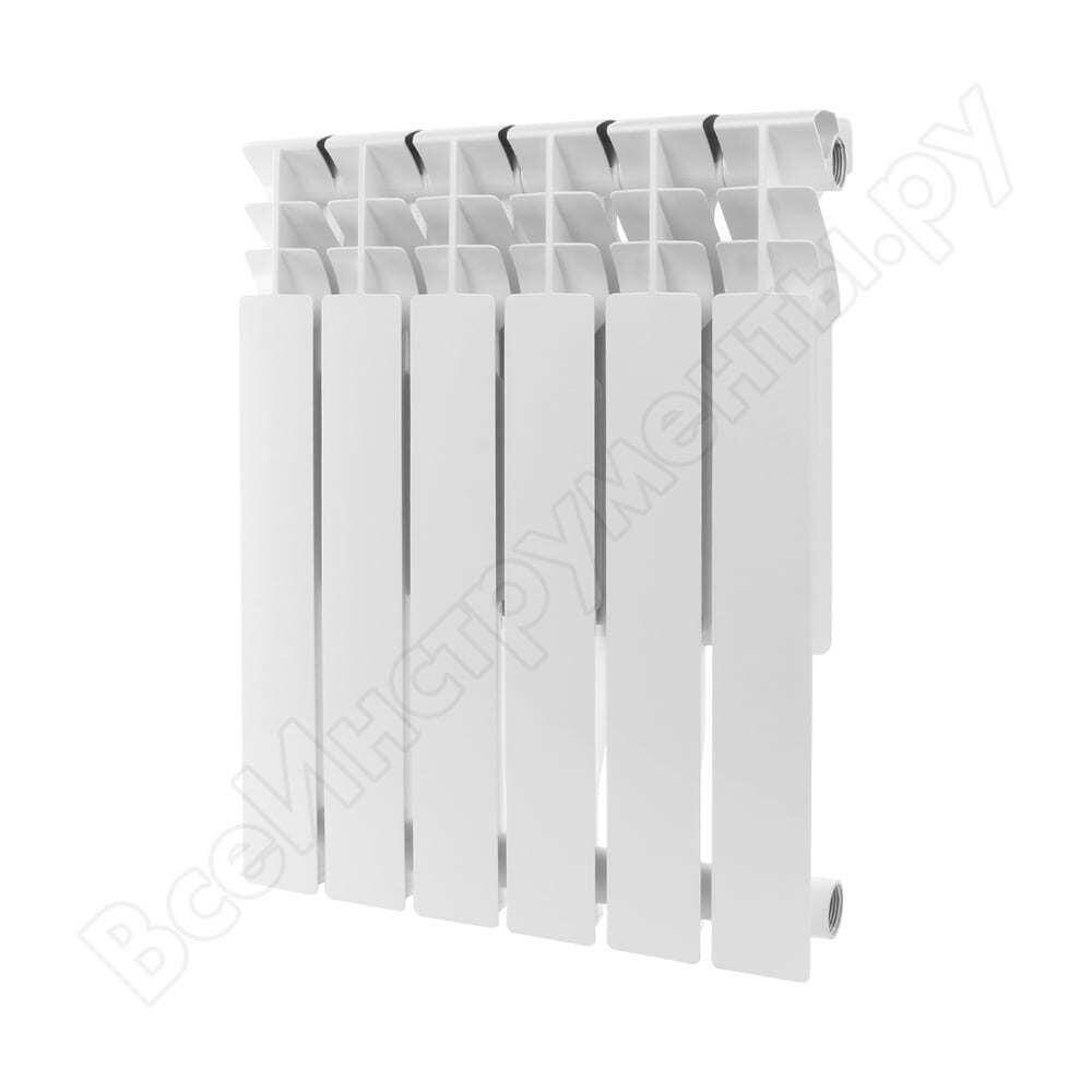 Алюминиевый радиатор rommer plus 500 6 секций ral9016 89563