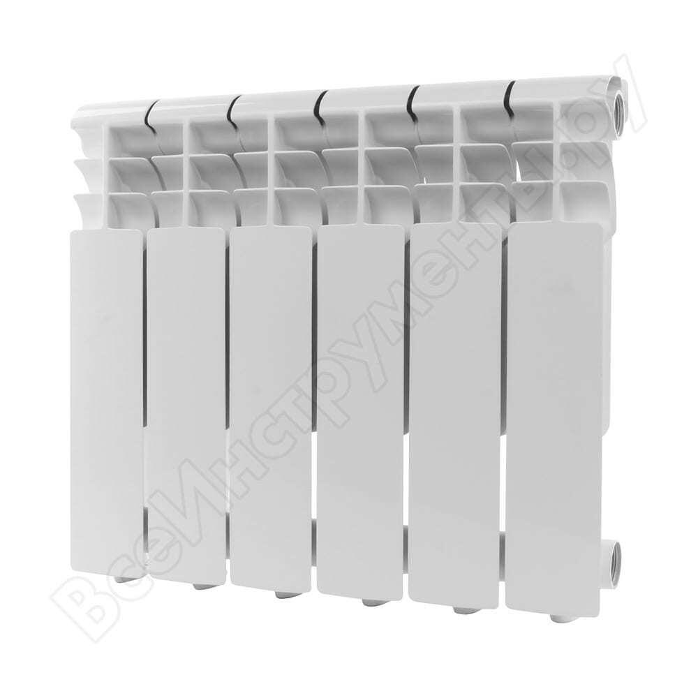 Алюминиевый радиатор rommer profi 350 al350-80-80-080 6 секций ral9016 86621