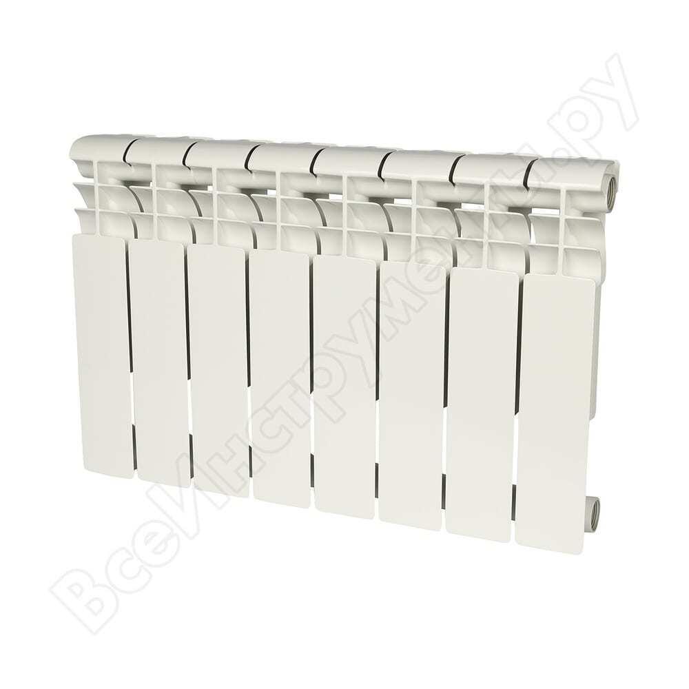 Алюминиевый радиатор rommer profi 350 al350-80-80-080 8 секций ral9016 86622