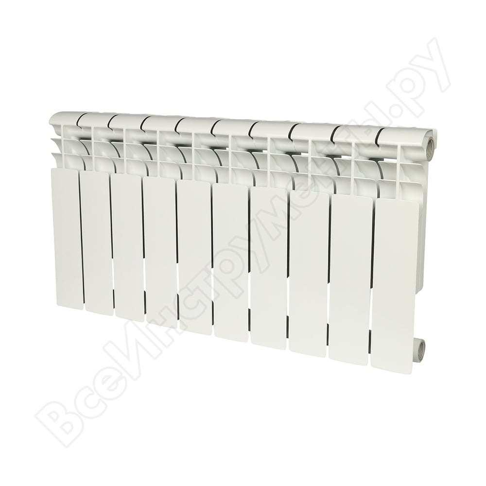 Биметаллический радиатор rommer profi bm 350 bi350-80-80-130 10 секций ral9016 86632