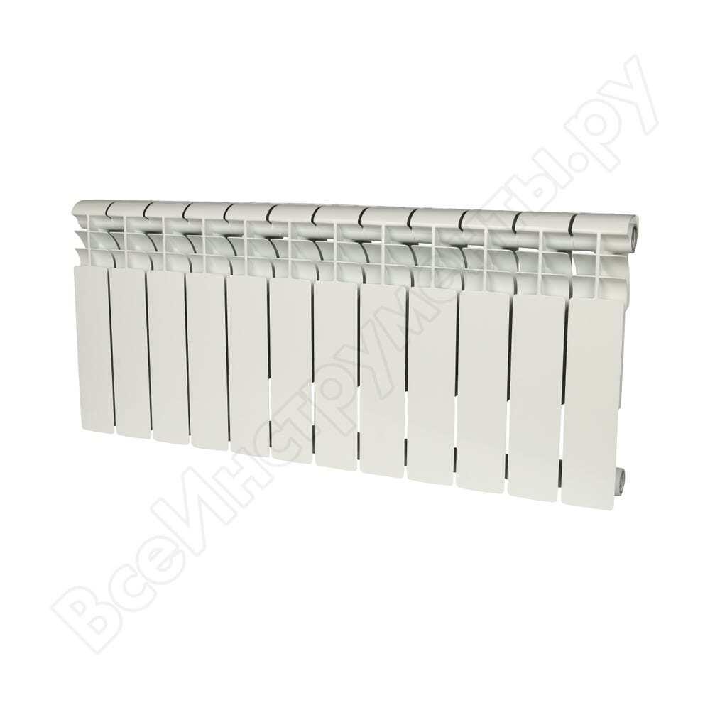 Биметаллический радиатор rommer profi bm 350 bi350-80-80-130 12 секций ral9016 86633