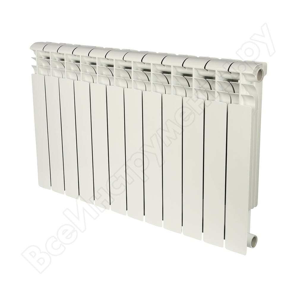 Биметаллический радиатор rommer profi bm 500 bi500-80-80-150 12 секций ral9016 82491