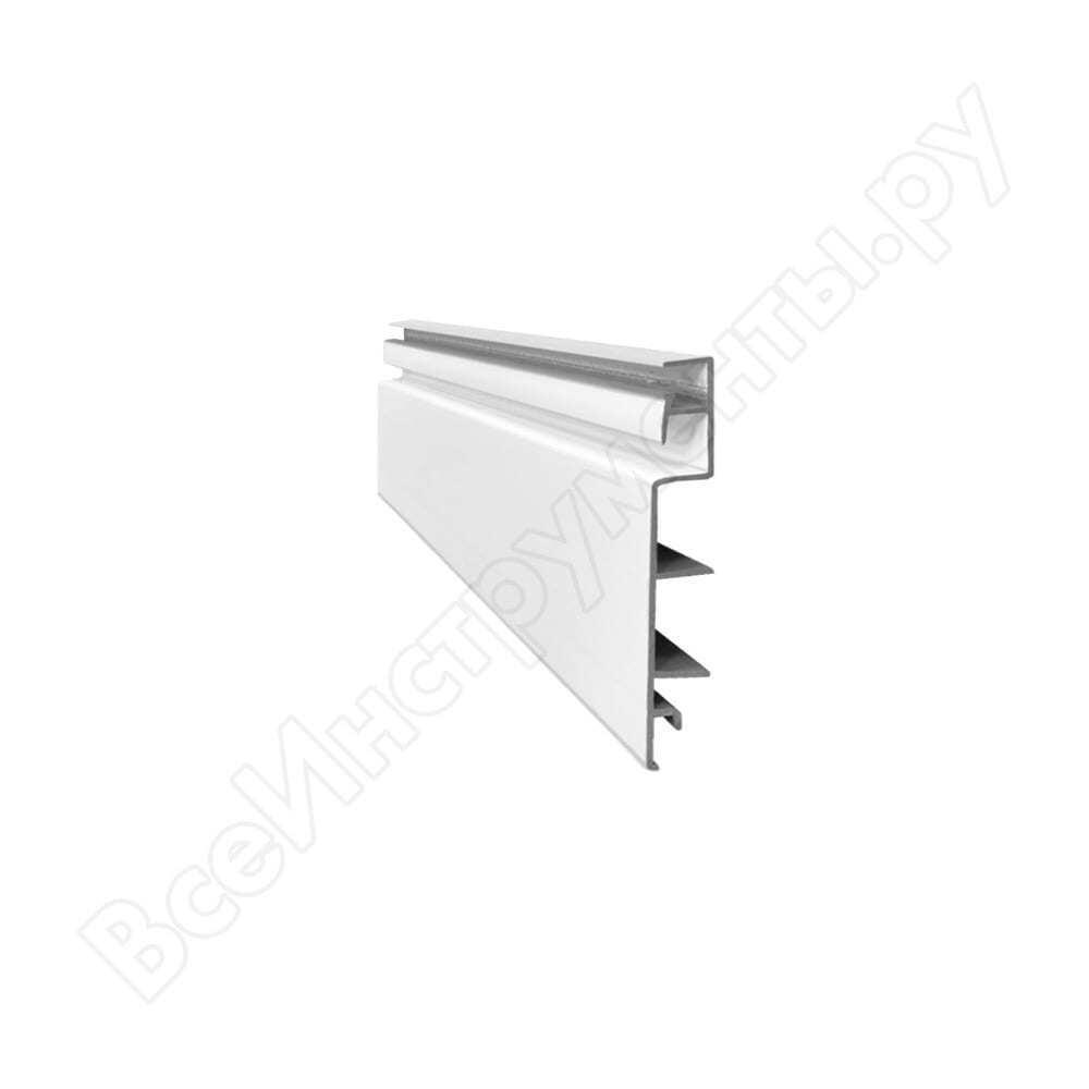 Универсальная белая слэт-панель (экономпанель) 120см esse sp120w