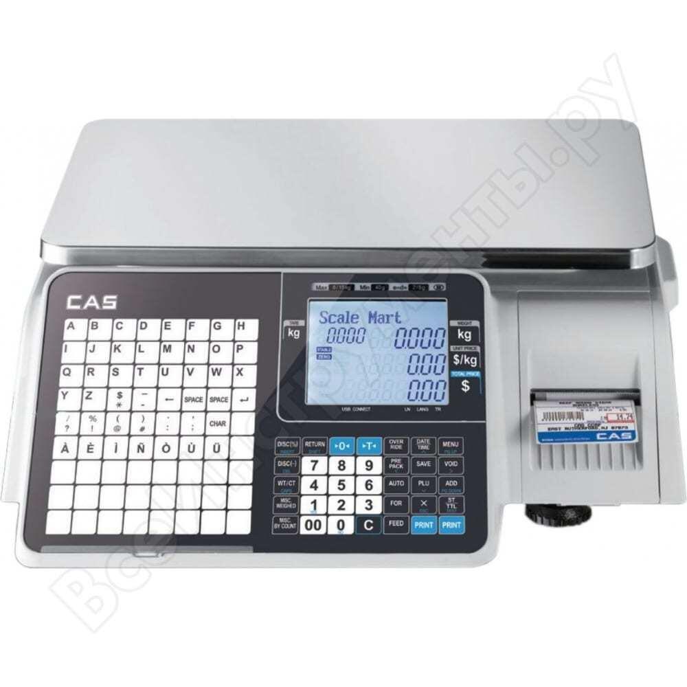 Весы cas cl-3000j-15b j10l10153gci0501