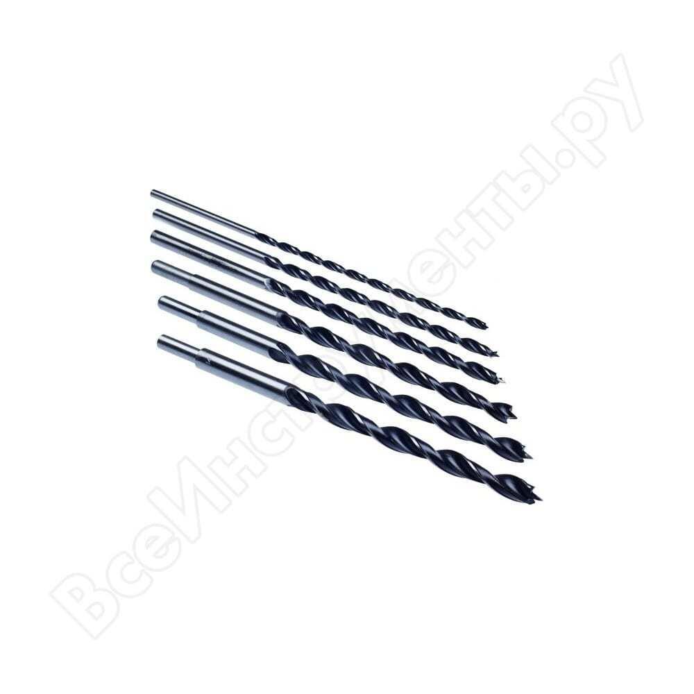 Набор сверл спиральных 6 -14 мм, длина 300 мм, 6 предметов hobbi 36-8-520