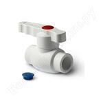 Шаровой кран со стандартным проходом pro aqua pp-r белый d-25 мм pa44010b