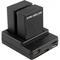 Зарядное устройство для двух аккумуляторов под камеры eken bat_ch_2
